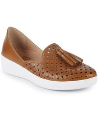 a1e76cea29b Fitflop - Superskate D orsay Leather Loafers - Lyst