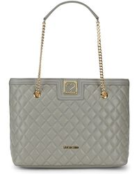 Love Moschino - Quilted Chain Tote - Lyst