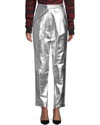 Robert Rodriguez Metallic Leather Trousers - Multicolour