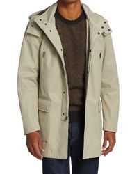 Saks Fifth Avenue Collection Four-pocket Hooded Raincoat - Multicolour