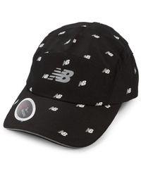 New Balance Men's Textured Logo Baseball Cap - Black