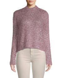 MILLY Fuzzy Metallic Sweater - Multicolour