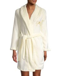 Juicy Couture - Logo Embroidery Short Robe - Lyst