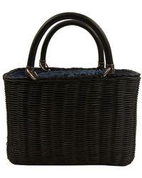 Sam Edelman Lucy Mini Straw Crossbody Bag - Black