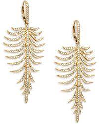 Adriana Orsini Goldtone & Crystal Drop Earrings - Multicolour