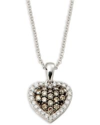 Le Vian - Chocolatier 14k Vanilla Gold®, Chocolate Diamonds® & Vanilla Diamonds® Pendant Necklace - Lyst