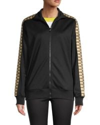 Moschino Women's Embroidered Bear Bomber Jacket - Black - Size 36 (2)