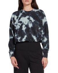 Kensie Women's Tie-dye French Terry Sweatshirt - Black - Size M