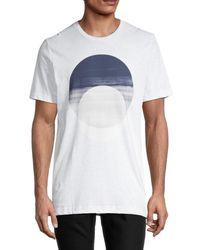 Vestige Midnight Circle Cotton-blend T-shirt - White
