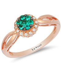 Le Vian - Chocolatier® Costa Smeralda Emeralds® & Vanilla Diamond® Ring - Lyst