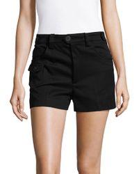 Miu Miu - - Flap Pocket Shorts - Women - Cotton - 38 - Lyst