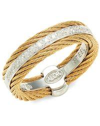 Alor Women's 18k White Gold, Stainless Steel & Diamond Ring/size 7 - Size 7 - Metallic