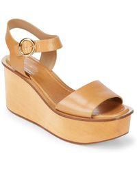 Michael Kors - Bridgette Leather Ankle-strap Wedge Platform Sandals - Lyst
