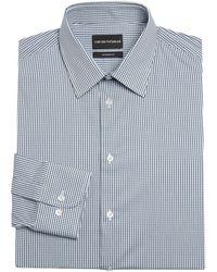 Giorgio Armani Modern Fit Check Dress Shirt