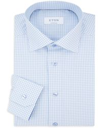 Eton of Sweden Contemporary-fit Gingham Dress Shirt - Blue