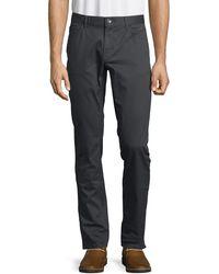 Michael Kors Parker Slim-fit Stretch-twill Pants - Blue