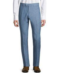 Sandro Men's Linen Pants - Blue - Size 38