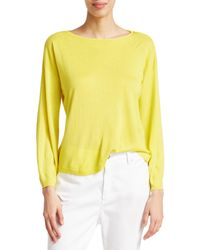 Eileen Fisher Boatneck Knit Pullover - Yellow