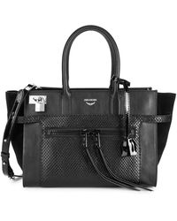 Zadig & Voltaire Candide Leather Top Handle Bag - Black