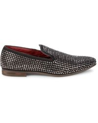 Steve Madden Men's Dazzlee Rhinestone-embellished Loafers - Rhinestone - Size 8.5 - Black