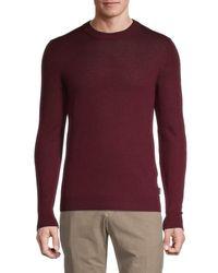 Ted Baker Ribbed Wool-blend Jumper - Red