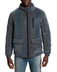PRPS Big Rock Irridescent Puffer Jacket - Grey
