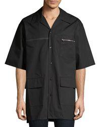 3.1 Phillip Lim Souvenir Cotton Camp Shirt - Black