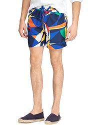 Ralph Lauren Sail Colorblock Explorer Swim Shorts - Blue