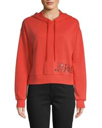 Juicy Couture Graphic Cotton-blend Drawstring Hoodie - Red