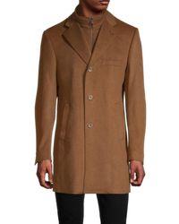 Saks Fifth Avenue Wool & Cashmere-blend Car Coat - Brown