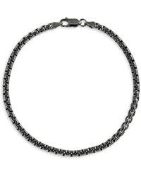Effy Sterling Silver Box Chain Bracelet - Metallic