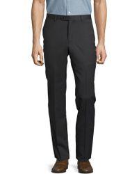 John Varvatos - Solid Woollen Straight-leg Trousers - Lyst