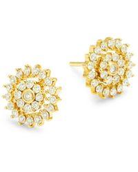 Hueb 18k Yellow Gold & 0.63 Tcw Diamond Stud Earrings - Metallic