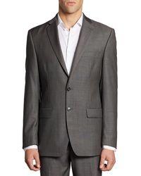Calvin Klein - Classic-fit Wool Jacket/grey - Lyst
