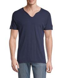 Zadig & Voltaire Men's Monas Splitneck Cotton T-shirt - Grey - Size Xs