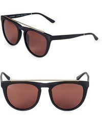 Smoke X Mirrors Women's Road Runner 53mm Browline Sunglasses - Gray