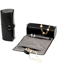 Bey-berk Leather & Suede Jewellery Roll - Black