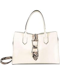 Sam Edelman Top Handle Leather Satchel - White