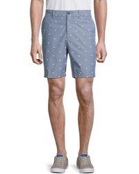 Original Penguin Men's Printed Cotton Shorts - Dark Sapphire - Size 30 - Blue