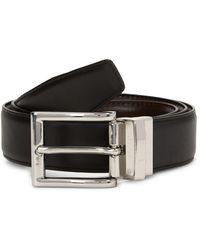 Cole Haan Reversible Slim Leather Belt - Brown