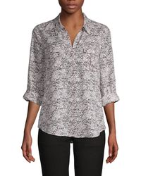 Joie Booker Abstract-print Shirt - Multicolour