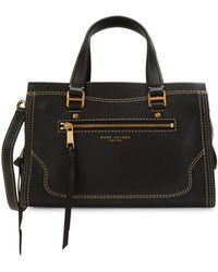 Marc Jacobs Cruiser Pebbled Leather Satchel - Black