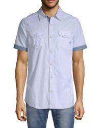 Buffalo David Bitton Sadao Short-sleeve Shirt - Blue