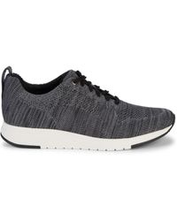 Vince Men's Palo Knit Mesh Runners - Marled Gray - Size 8