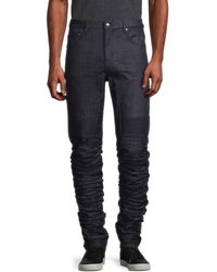 Standard Issue Stacked Wrinkle Jeans - Blue