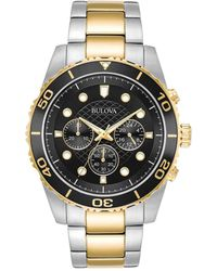 Bulova - Sport Two-tone Stainless Steel Chronograph Watch - Lyst