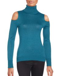 T Tahari - Cold Shoulder Sweater - Lyst