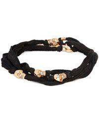 King Baby Studio - Skull Beaded Wrap Bracelet - Lyst