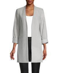 Calvin Klein Women's Open-front Jacket - Gray - Size 14
