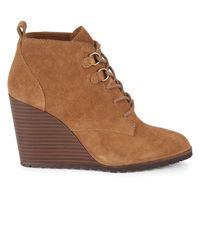 Splendid Paris Suede Wedge Ankle Boots - Black